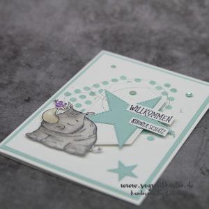 """Karte zur Geburt """"Wild auf Grüße"""""""